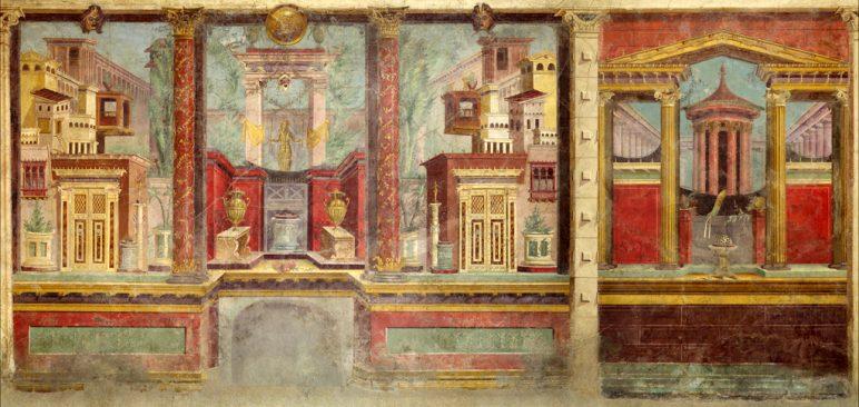 Fresco En Pompeya. Ca. 50 40 A. C.